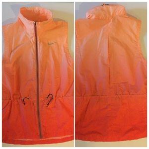 Nike Orange Red Ombré Elastic Vest